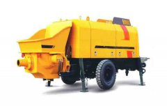 Operation of Trailer Concrete Pump